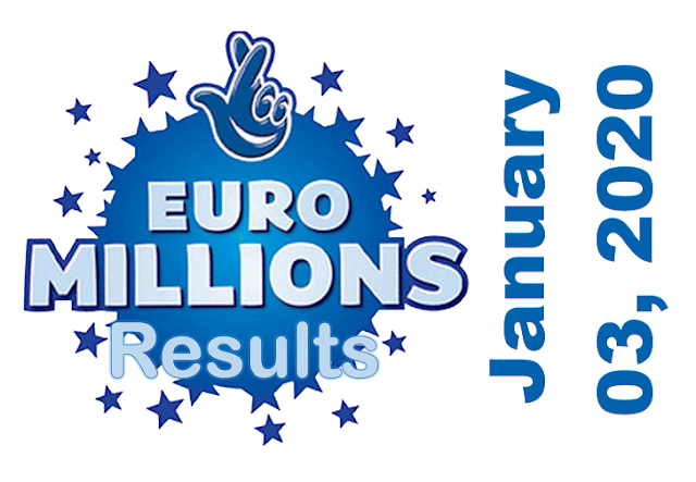 EuroMillions Results for Friday, January 03, 2020