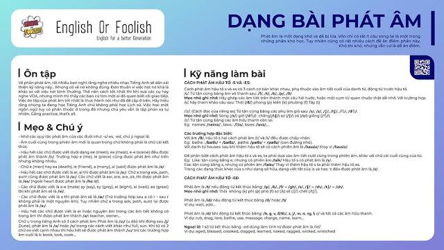 Một số tài liệu kiến thức luyện thi Tiếng Anh THPT Quốc Gia
