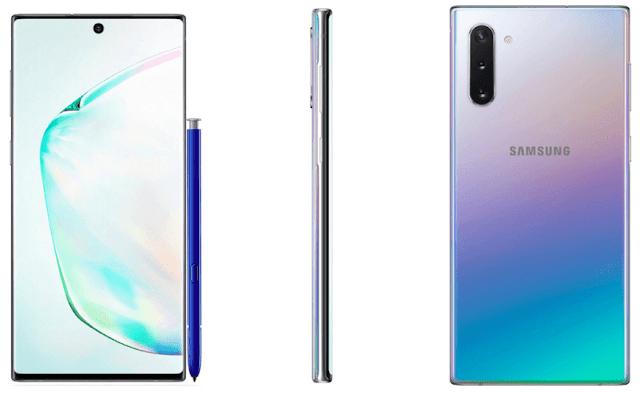 تسريبات تظهر خيار اللون المتدرج لهاتف Samsung Galaxy Note10 القادم