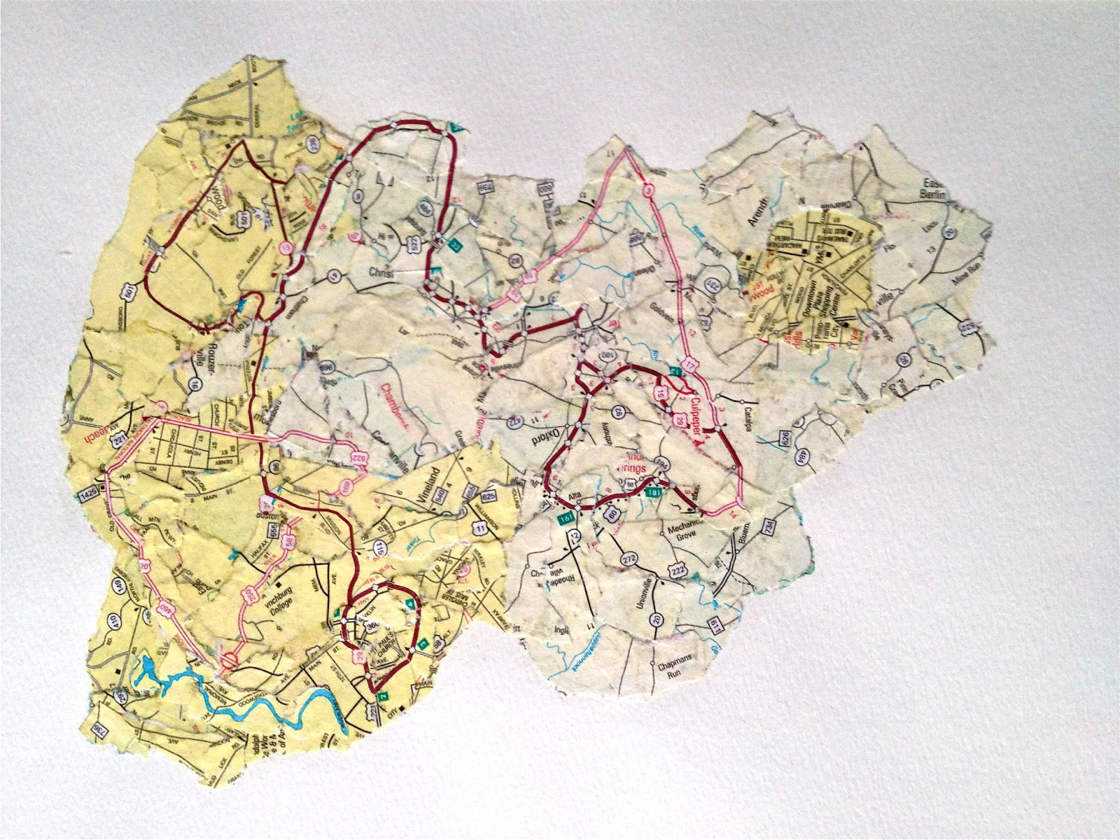 Jennifer Elling: Map Collage on map slide show, map travel, map facebook covers, map creator, map pencil, map in india, map gift tags, map in europe, map still life, map de france, map making, map of college football teams, map major rivers in australia, map with mountains, map with states, map distance between cities, map of dallas texas and surrounding areas, map vintage, map in spanish, map history,