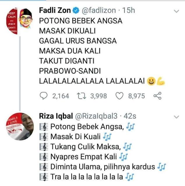 Wakil Ketua DPR Fadli Zon Sebut Projo Kampungan Dan Di Depan Prabowo Subianto Juga Teriak Teriak