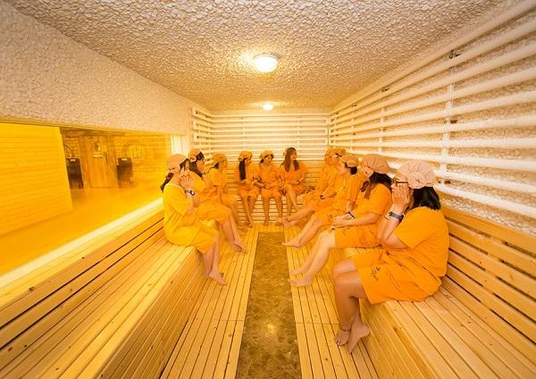 Phòng tắm hơi Sauna kiểu Hàn Quốc
