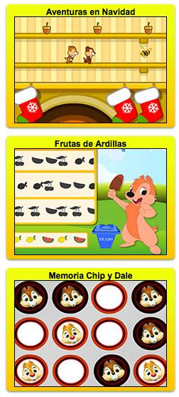 juegos gratis de las ardillas Chip y Dale de Disney Channel