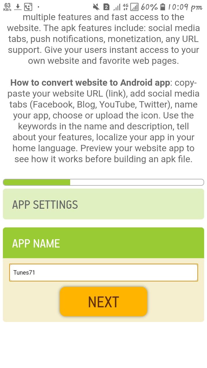 ওয়েবসাইটের জন্যে এন্ড্রয়েড এপস তৈরী করুন এক মিনিটেই।। Make Android apps for your website.