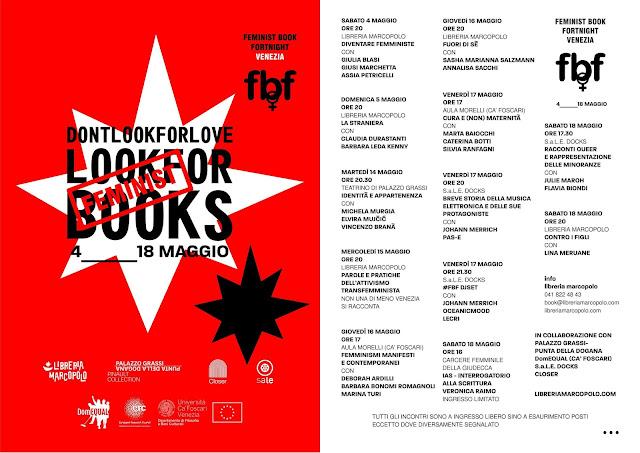 Feminist Book Fortnight a Venezia! 4 -18 maggio - PROGRAMMA