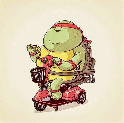 Fat Super Hero Gemuk - Ninja Turtle Fat Raphael