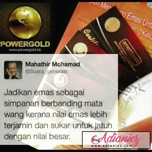 emas lebih terjamin dari wang ringgit kata tun mahathir