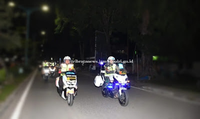 Guna Memantau Keamanan Pergantian Tahun 2019 Ke Tahun 2020, Kapolda Jambi Pimpin Patroli Integritas TNI-Polri