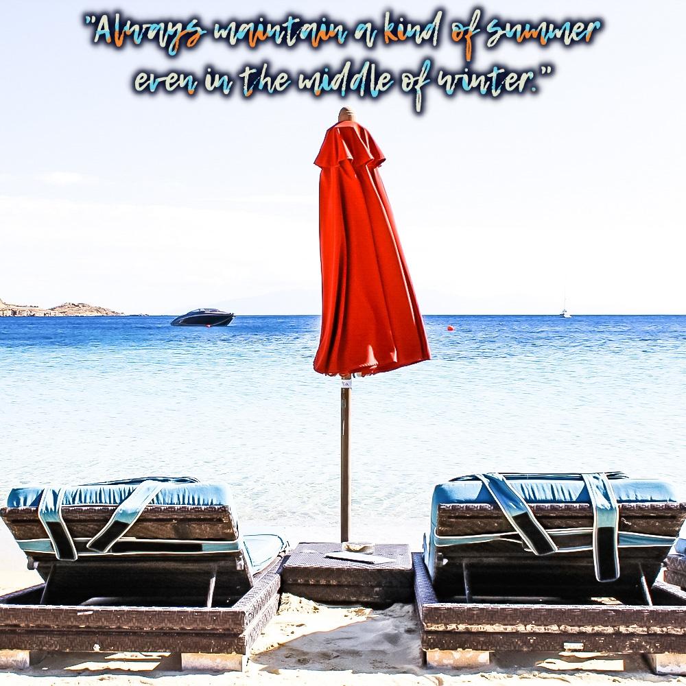 best summer quotes, summer travel inspo quote, Mykonos travel photography, citati o letu