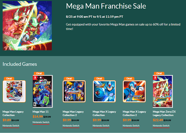 Mega Man Franchise Sale August 2020 Nintendo Switch eShop false advertising