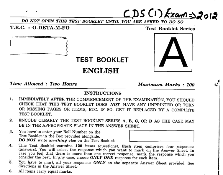 Cds Solved Papers Pdf