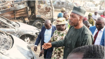 Gov. Zulum blasts the army over the fresh kidnapping of travellers.