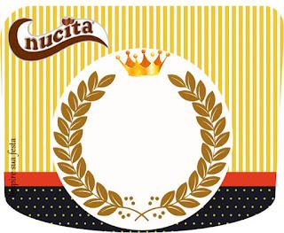 Etiqueta Nucita  para Imprimir Gratis de Pequeño Rey.