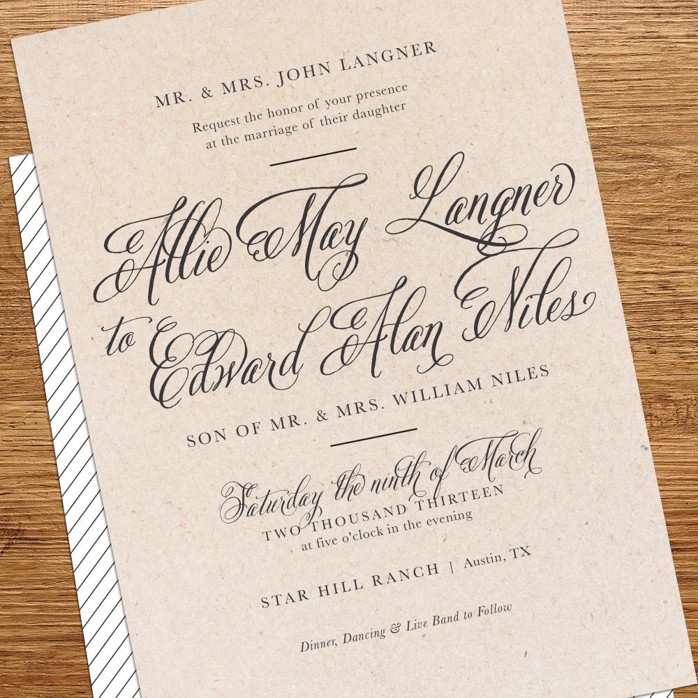 Outdoor Wedding Invitations: Kxo Design