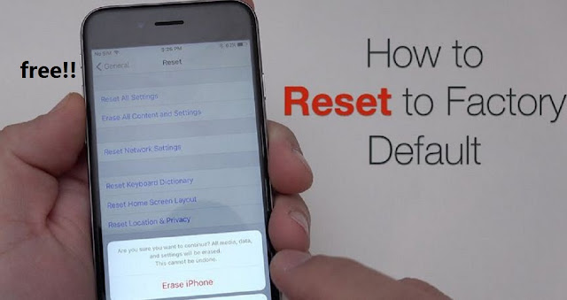 how to do factory reset iphone
