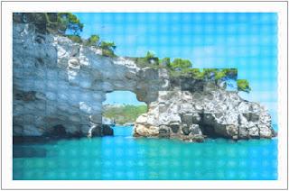 Tile glass effect on the original image