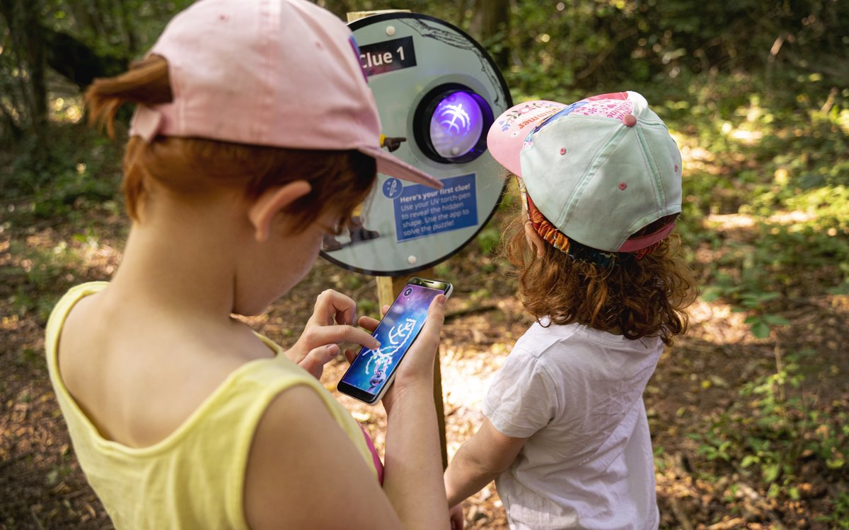 Shaun the Sheep Farmageddon Glow Trail at Hamsterley Forest - Top Tips for Visiting  - kids using the app