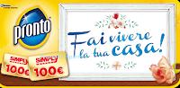 Logo Vinci buoni spesa da 100 euro con Pronto e Simply