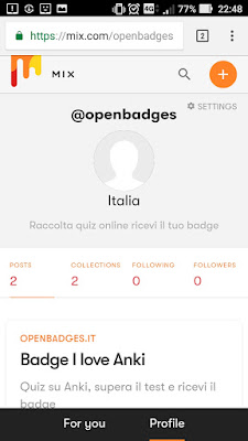 Mix canale ufficiale openbadges blog