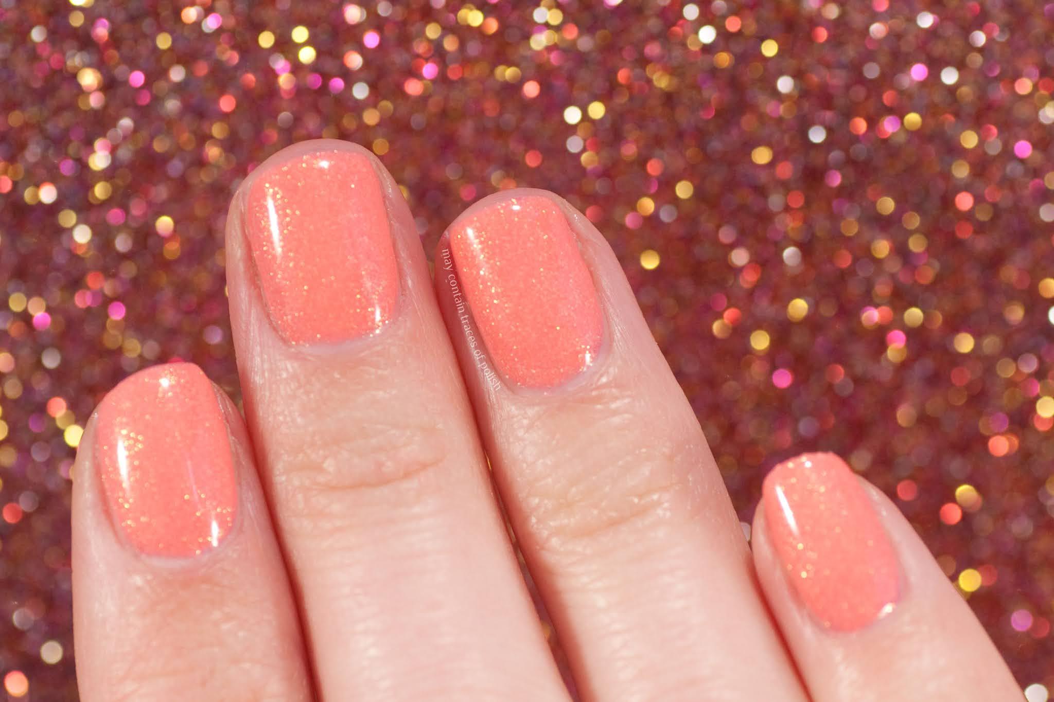 Pink Gellac swatches - 159 Glamorous Peach