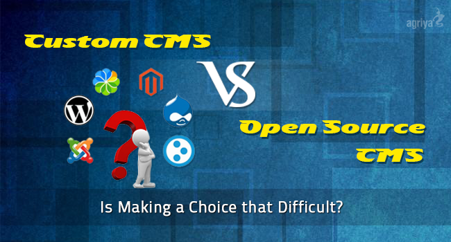 open source cms vs custom cms