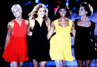 Supermodels: Linda Evangalista, Cindy Crawford, Naomi Campbell & Christy Turlington for Versace