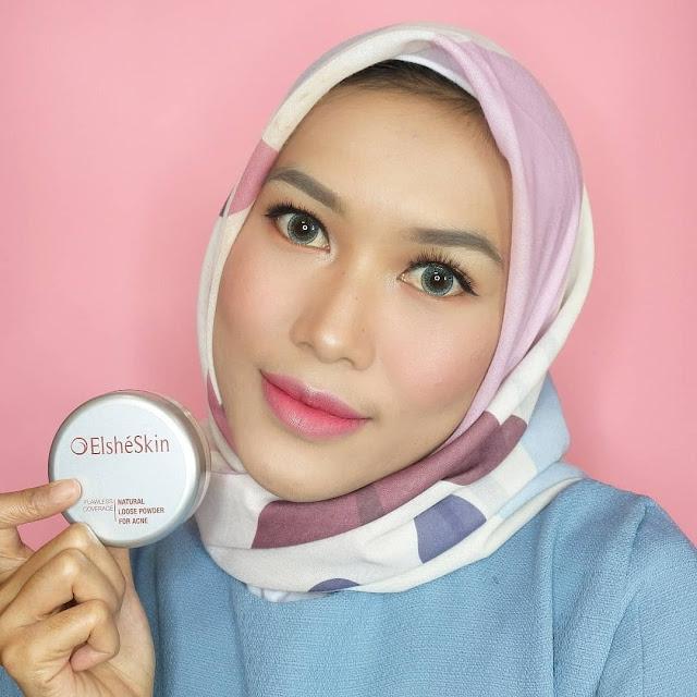 Elsheskin Natural Loose Powder for Acne