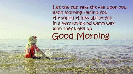 Beautiful Good Morning Quote with Cute Baby