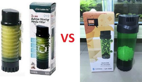 Ziss Bubble Bio Filter VS QANVEE LH-600 Filter
