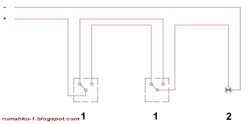 rumahku1: cara memasang instalasi saklar tukar (saklar hotel)