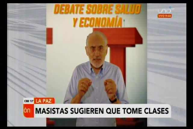 Le piden a Carlos Mesa que vaya a pasar clases de economía con Luis Arce para poder debatir