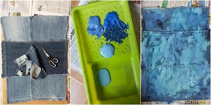 DIY - Jak zrobić tło do fotografii kulinarnej ze starych jeansów (lub innej tkaniny)?