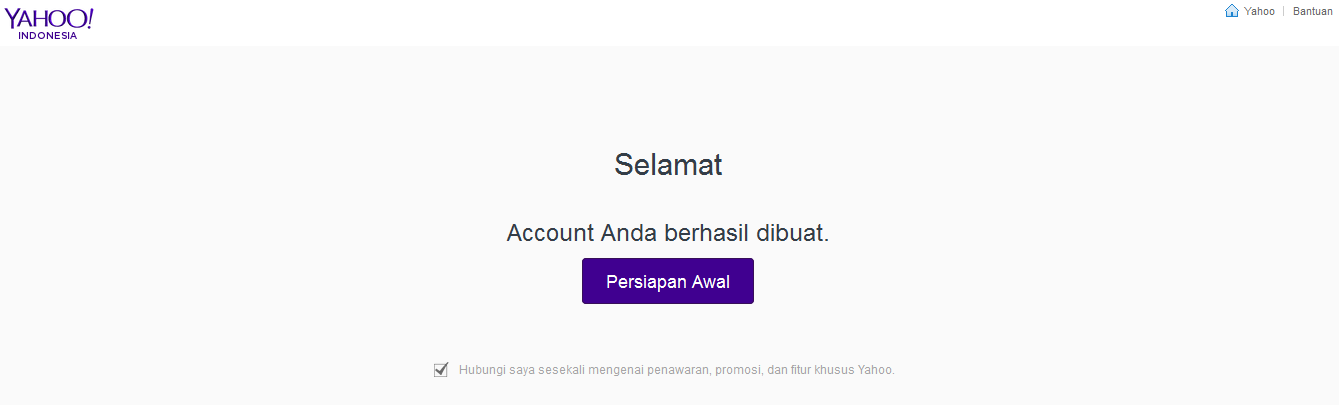 email sukses
