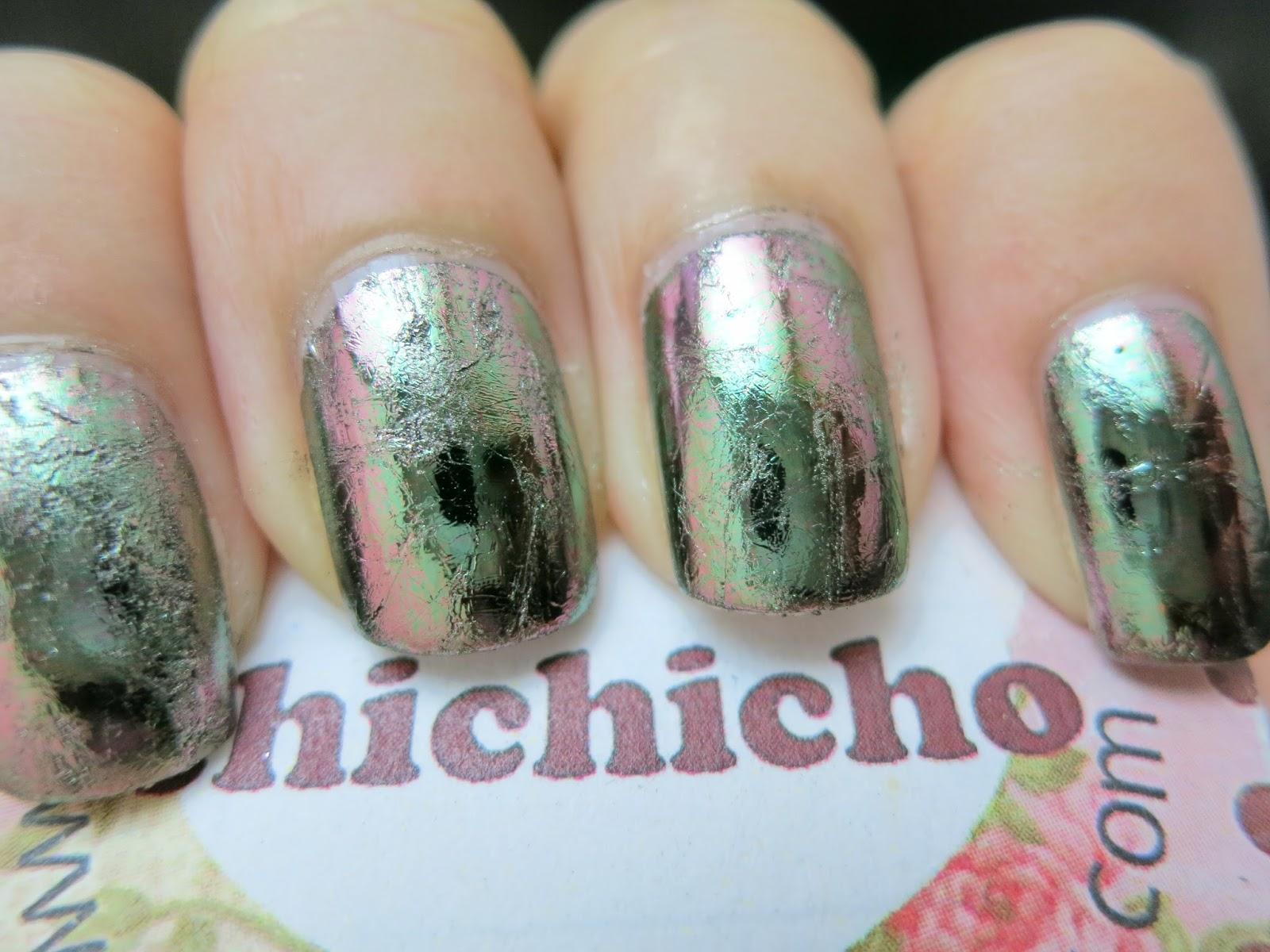 Silver Nail Foil Nail Art Born Pretty Store Review - chichicho~