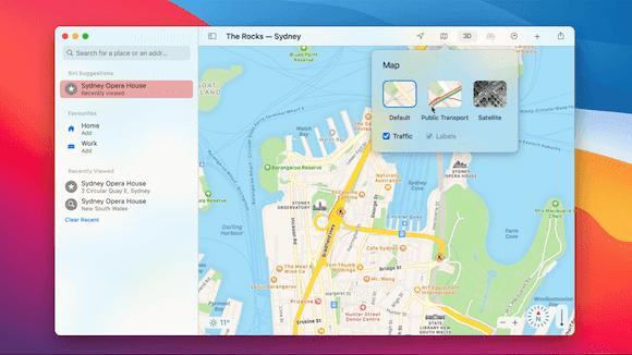 MacOS 11 big sur Map