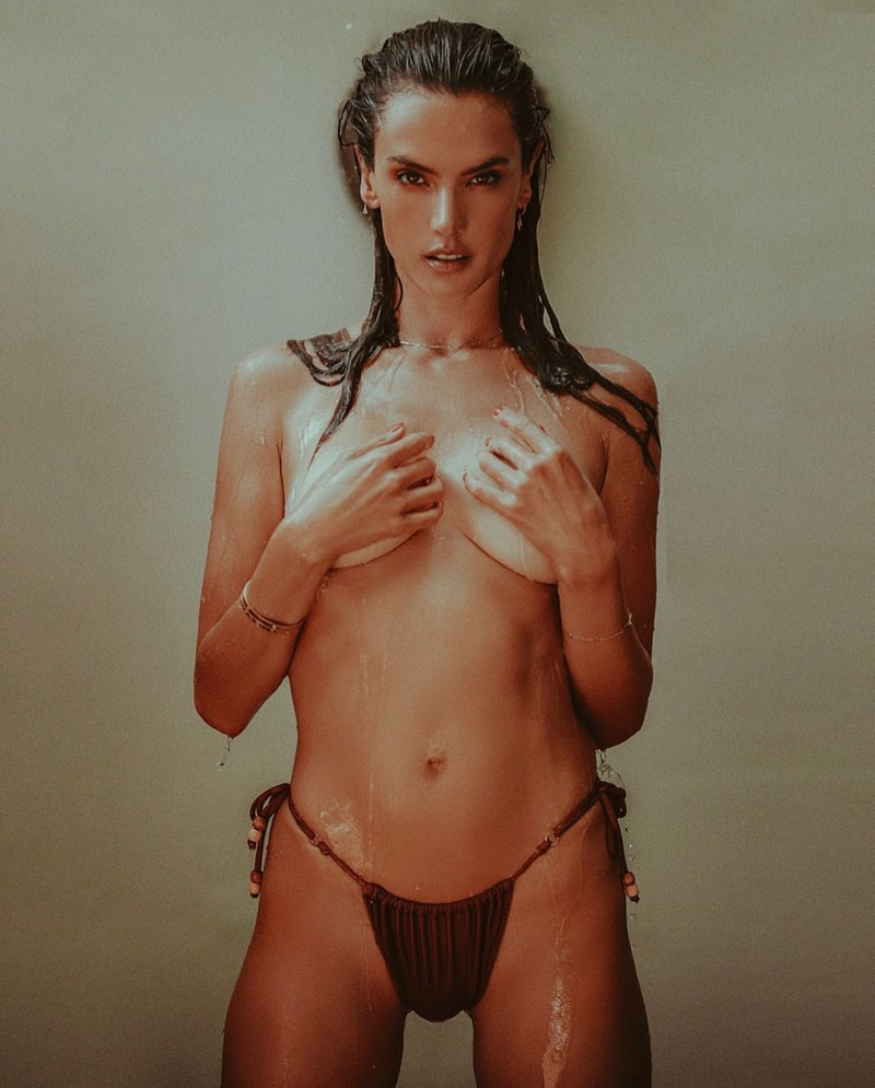 Posing topless, Alessandra Ambrosio fronts Gal Floripa summer 2020 campaign.