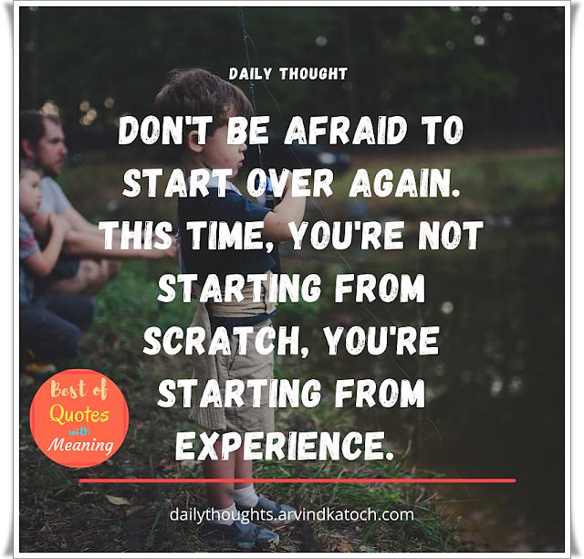 afraid, experience,