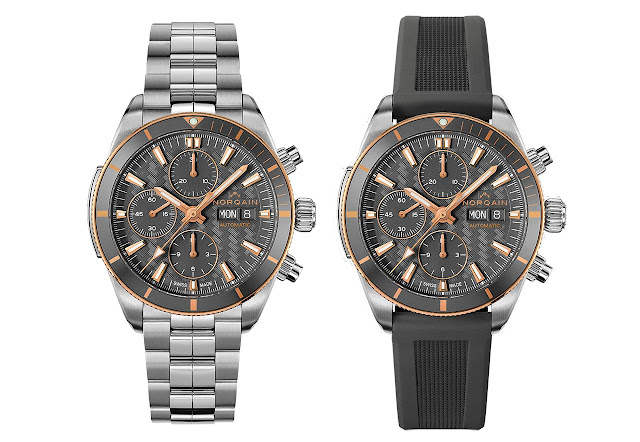 Norqain Adventure Sport Chrono Day/Date 41 in Steel and Gold