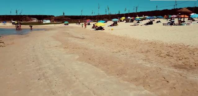 Areal da Praia Fluvial dos Cinco Reis