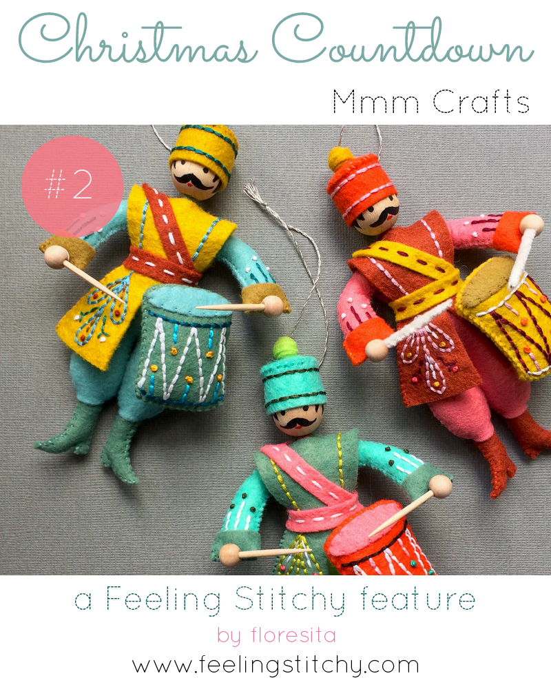 Christmas Countdown 2 - Larissa Holland Mmm Crafts - featured by floresita on Feeling Stitchy