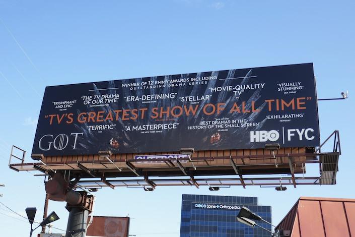 Game of Thrones final season FYC billboard