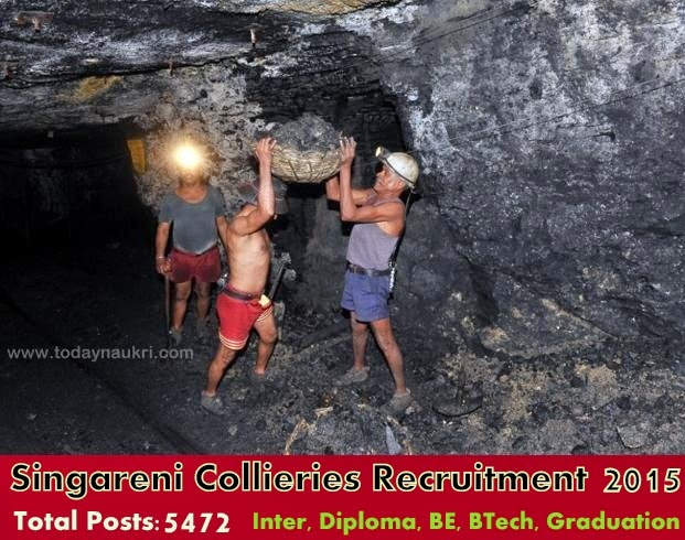 Singareni Collieries Recruitment 2015 For 5472 Posts Apply