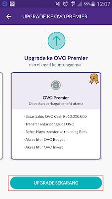 Cara Upgrade Akun OVO Club Menjadi OVO Premier