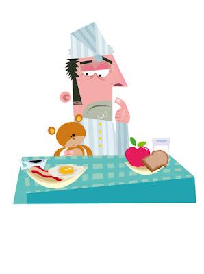 ilustración desayuno saludable