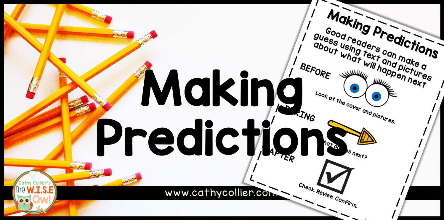 Predicting is a reading comprehension strategy all students can master. This step-by-step blog post helps with all students.