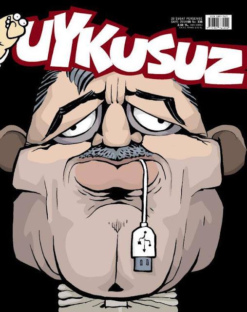 Uykusuz Dergisi - 20 Şubat 2014 Kapak Karikatürü