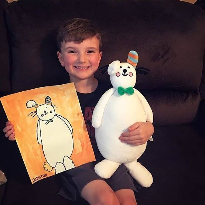 Company Transforms Children's Drawings Into Beautiful Cuddly Plush Toys