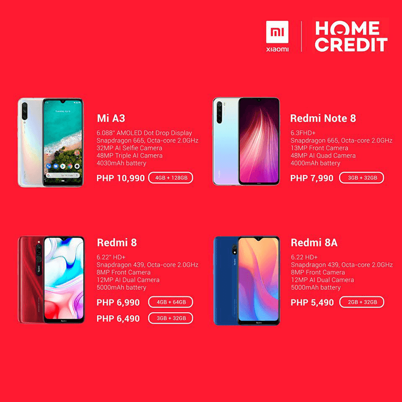 You can now get the affordable Mi phones via Home Credit