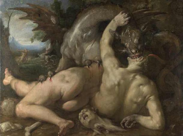 Rappresentazione di un drago del 1588.