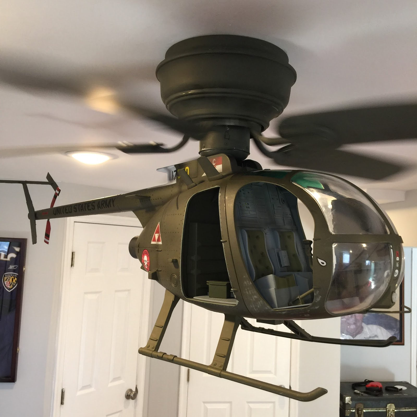 Captivating OH 6 Cayuse Helicopter Ceiling Fan